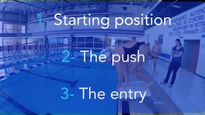 dive start swimming, how to dive, dive in freestyle, dive from blocks, swimming diving, start swimming dive, streamline start