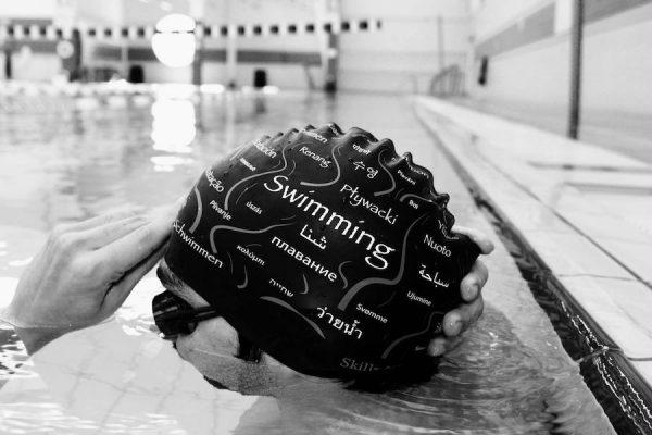 swimming cap, cool swimming cap, cool silicone swimming cap, fashionable swim cap, swim cap