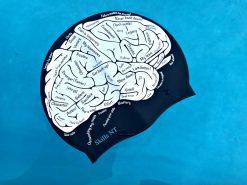 swim cap brain, swimming cap brain, swimming cap, cool swimming cap, cool silicone swimming cap, fashionable swim cap, swim cap, cool swim cap designs