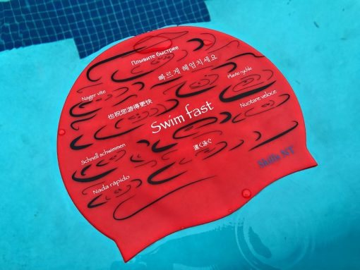 swimming cap, cool swimming cap, cool silicone swimming cap, fashionable swim cap, swim cap, swimwear, cool swim cap designs