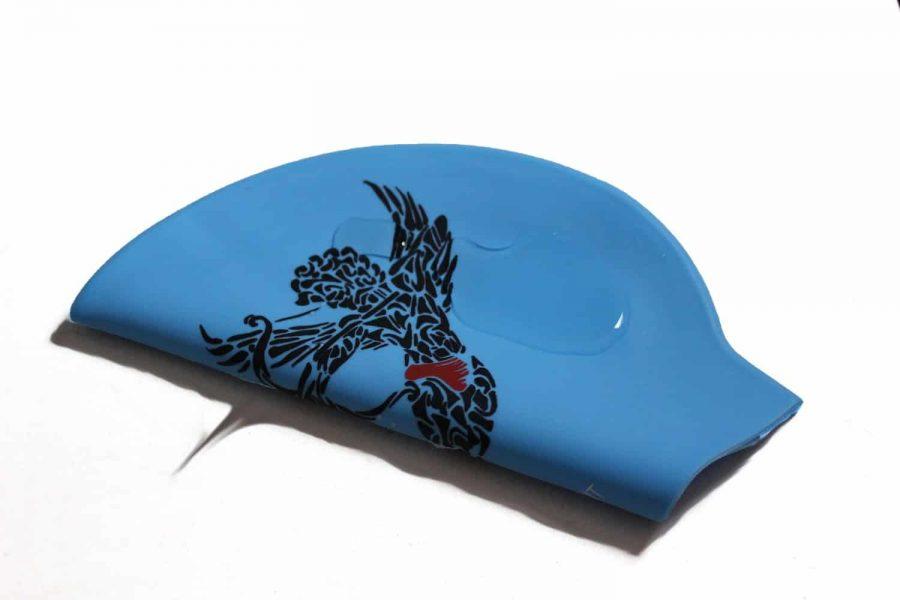 love swim cap, cupid swimming cap, blue swim cap, swimming cap, cool swimming cap, cool silicone swimming cap, fashionable swim cap, swim cap, swimwear, cool swim cap designs